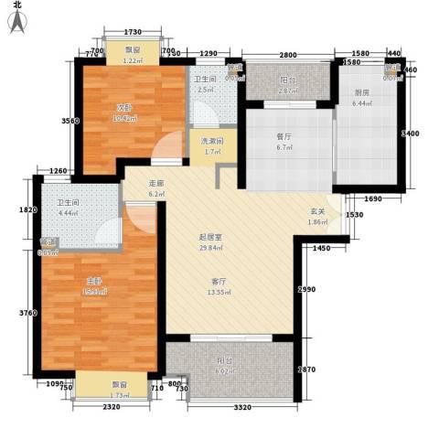 盛世宝邸2室0厅2卫1厨89.00㎡户型图