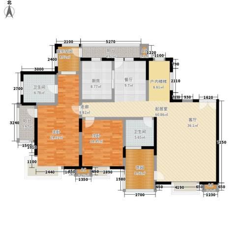 曲江荣禾曲池坊2室0厅2卫1厨316.00㎡户型图
