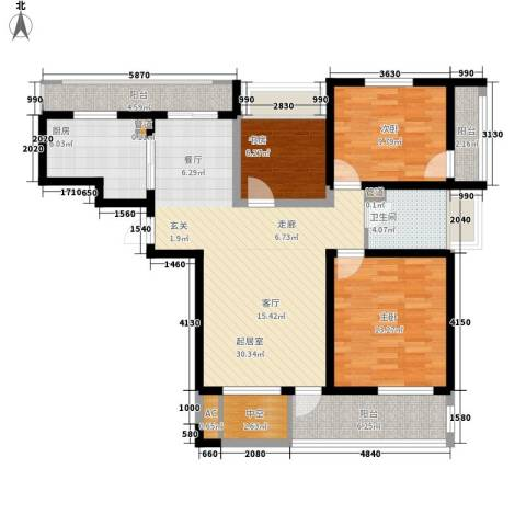 亿城新天地二期3室0厅1卫1厨102.00㎡户型图