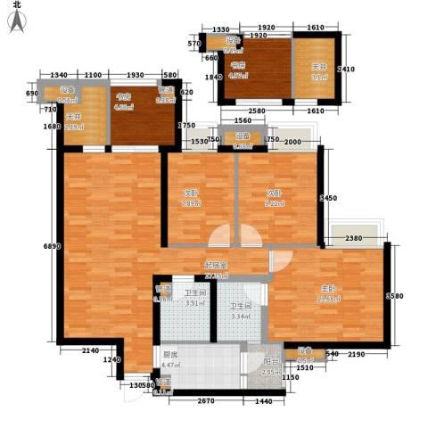 美洲花园E区2期5室0厅2卫1厨107.00㎡户型图