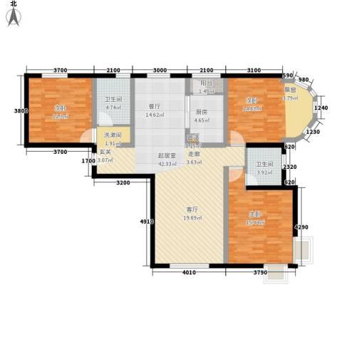 复兴之门3室0厅2卫1厨136.00㎡户型图