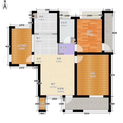 亿城新天地二期2室0厅1卫1厨92.00㎡户型图