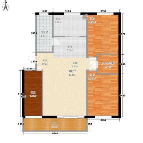山水人家小区3室1厅1卫1厨109.00㎡户型图
