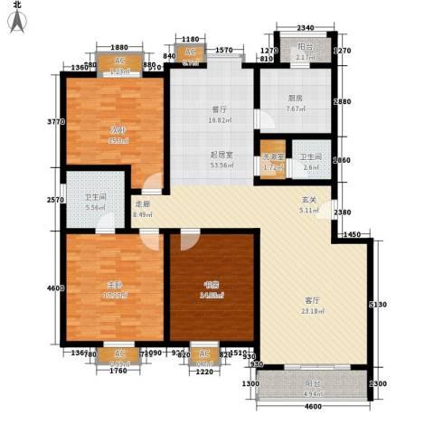 京源柳郡3室0厅2卫1厨131.00㎡户型图