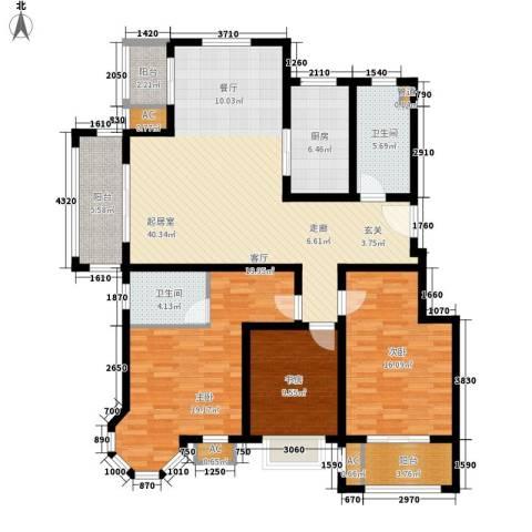 太湖郡3室0厅2卫1厨134.00㎡户型图