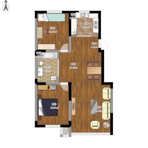 吴中家天下2室1厅1卫1厨110.00㎡户型图