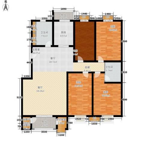 京源柳郡4室0厅2卫1厨185.00㎡户型图