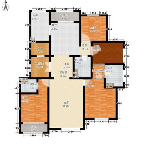 上河湾4室0厅3卫1厨194.00㎡户型图