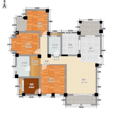 协信庭院时光4室0厅2卫1厨178.00㎡户型图