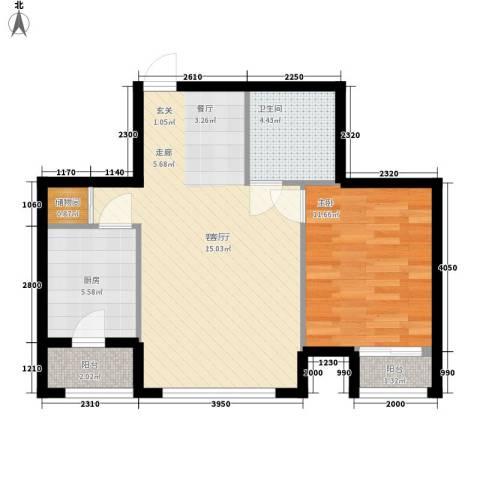 半岛蓝湾1室1厅1卫1厨430.00㎡户型图