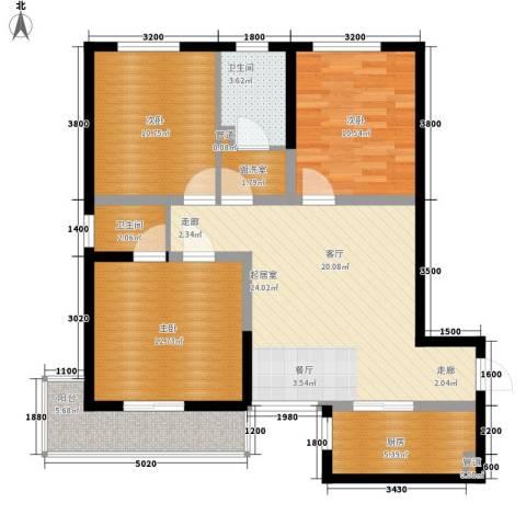 泾渭・馨佳苑3室0厅2卫1厨103.00㎡户型图