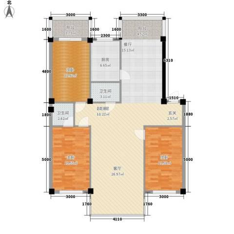 名仕家园3室0厅2卫1厨142.00㎡户型图