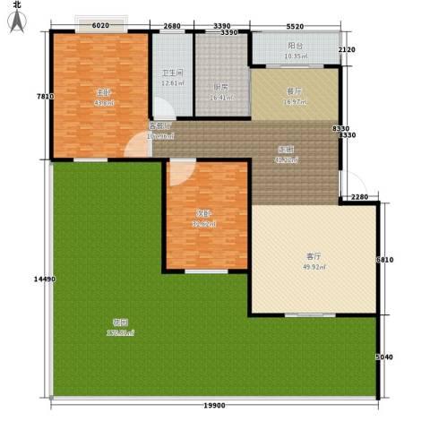 犬眠岭私人房2室1厅1卫1厨420.00㎡户型图