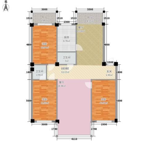 名仕家园3室0厅2卫1厨158.00㎡户型图