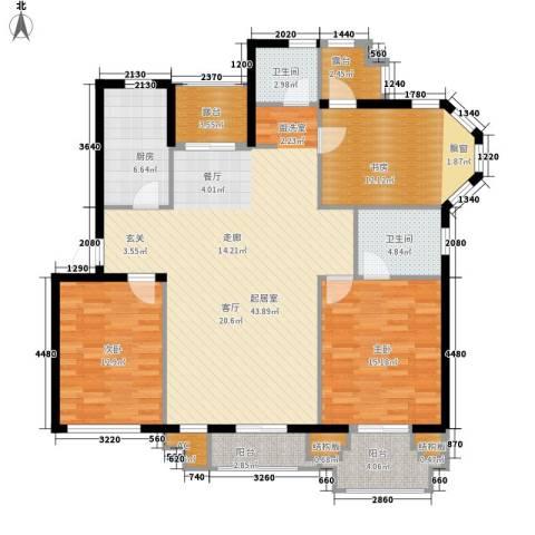 御窑花园3室0厅2卫1厨127.00㎡户型图