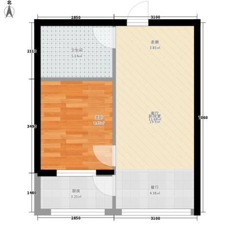 名仕家园1室0厅1卫1厨54.00㎡户型图
