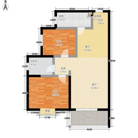 泾渭・馨佳苑2室0厅1卫1厨101.00㎡户型图