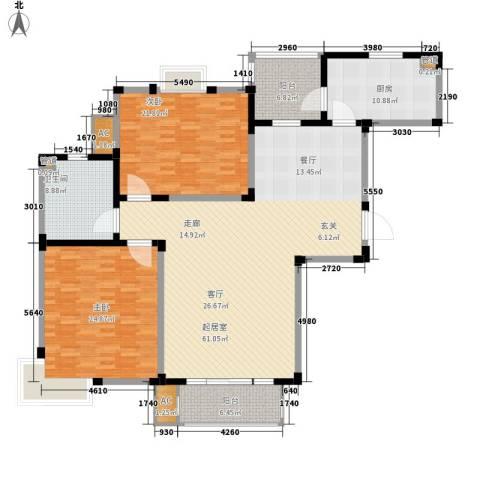 园东新村2室0厅1卫1厨160.00㎡户型图