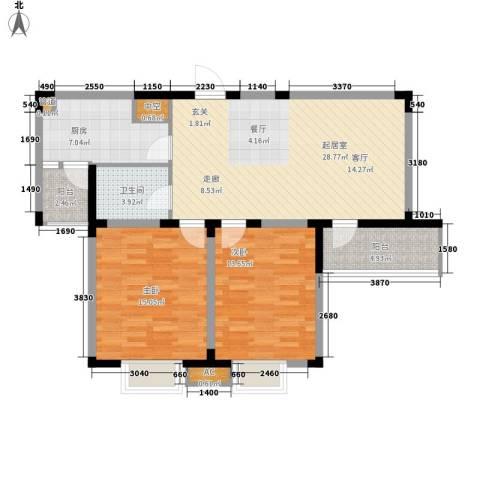 东苑花园2室0厅1卫1厨88.00㎡户型图