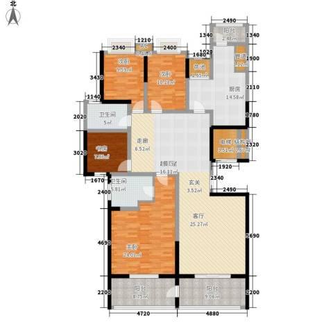南山湖1号4室0厅2卫1厨180.00㎡户型图