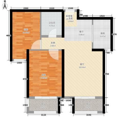 广场君府2室0厅1卫1厨104.00㎡户型图