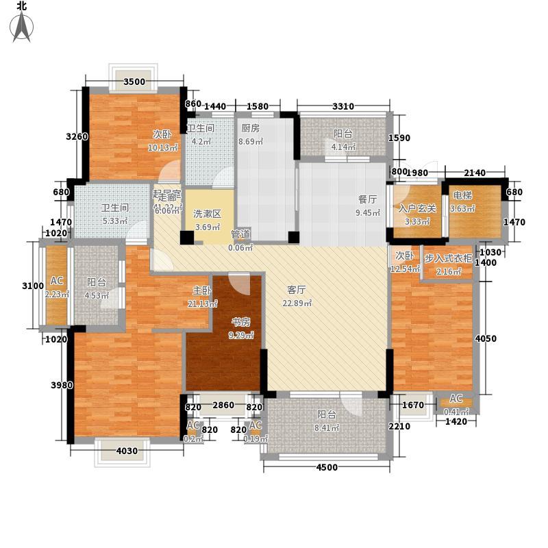百瑞景中央生活区170.00㎡小高层4号楼C户型4室2厅