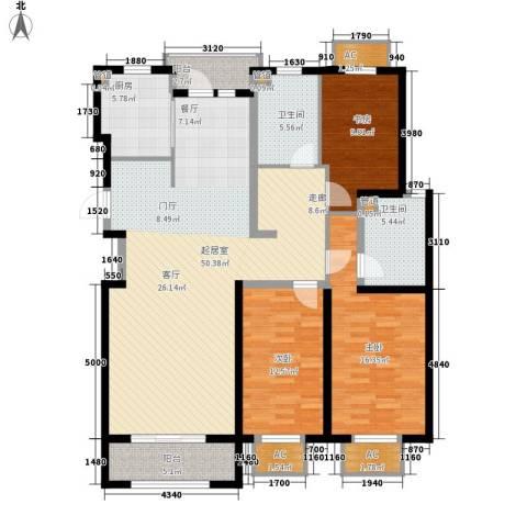山河半岛3室0厅2卫1厨169.00㎡户型图