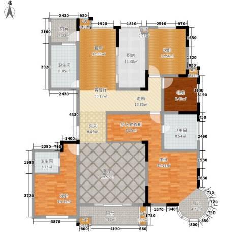 铭洋盛世钱门4室1厅3卫1厨207.33㎡户型图