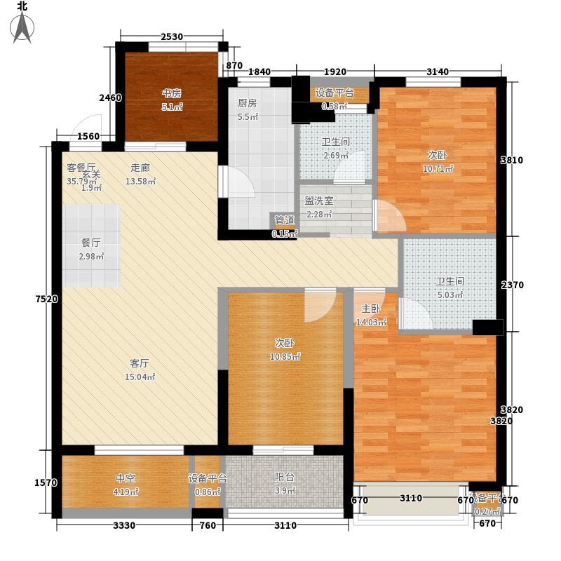 116.00㎡B3奇数标准层户型4室2厅2卫