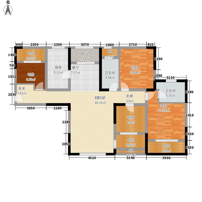 华润置地橡树湾142.00㎡A6新品4户型3室2厅
