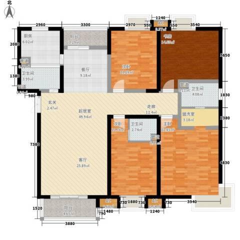 西市佳园4室0厅3卫1厨190.00㎡户型图