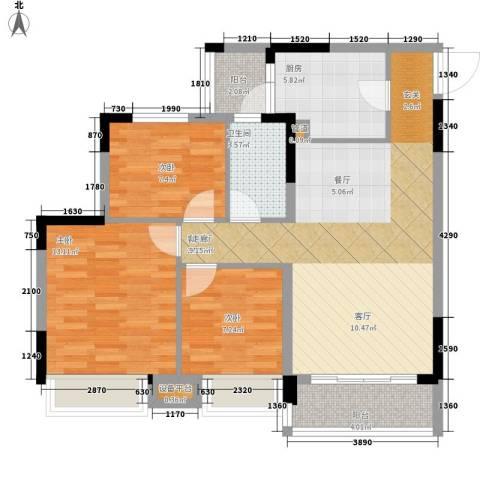 安南丽苑3室1厅1卫1厨102.00㎡户型图