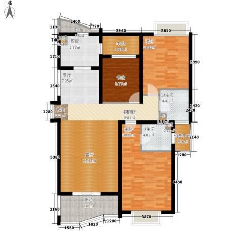 绍兴天下3室1厅2卫1厨142.00㎡户型图