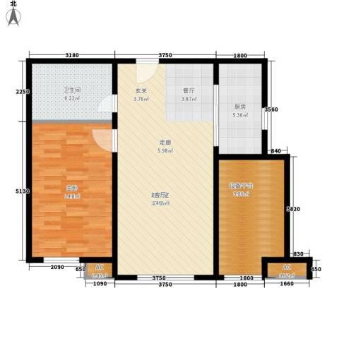 假日盈润园1室0厅1卫1厨73.00㎡户型图