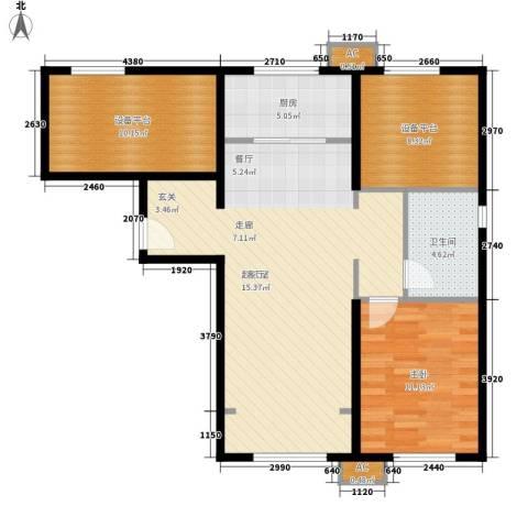 假日盈润园1室0厅1卫1厨80.00㎡户型图