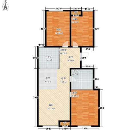 假日盈润园3室0厅2卫0厨115.00㎡户型图