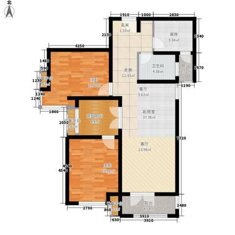 津沽首府2室0厅1卫1厨113.00㎡户型图