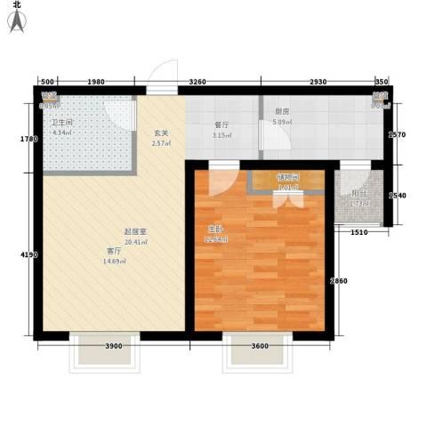 金厦新都庄园1室0厅1卫1厨63.00㎡户型图