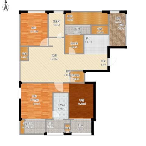 荣域花园2室1厅2卫1厨172.00㎡户型图