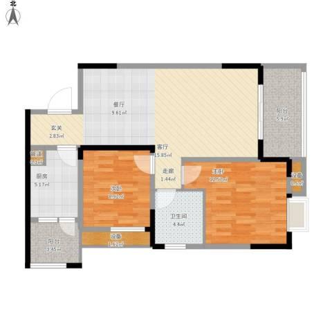 保利・康桥2室1厅1卫1厨103.00㎡户型图