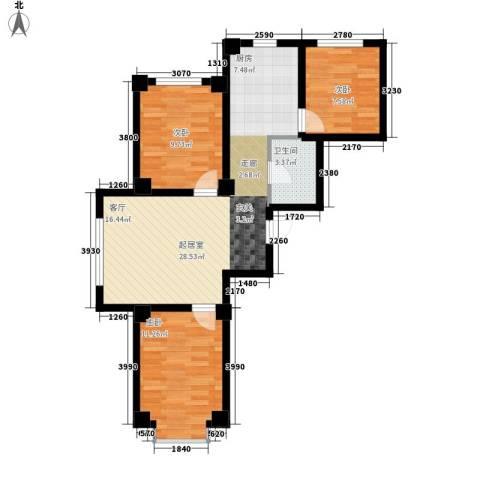 实华・新兴佳园3室0厅1卫0厨88.00㎡户型图