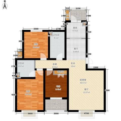 金厦新都庄园3室0厅2卫1厨132.00㎡户型图