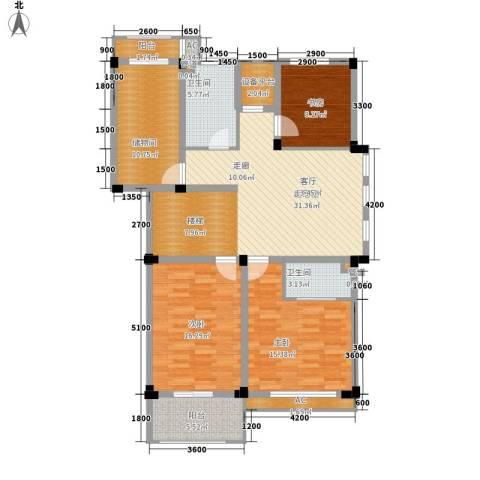 红叶枫情水岸3室0厅2卫0厨118.09㎡户型图
