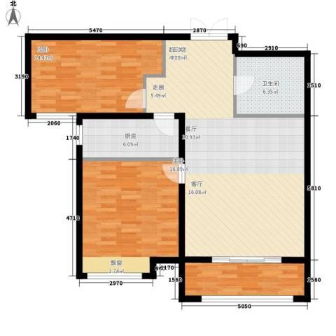 K2·京南狮子城2室0厅1卫1厨97.00㎡户型图