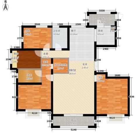 K2·京南狮子城3室0厅1卫1厨136.00㎡户型图