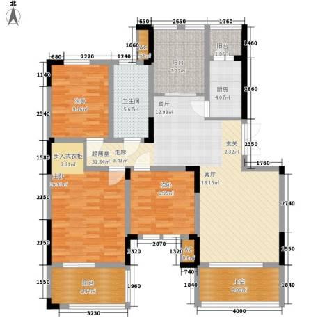 富安臻园3室0厅1卫1厨122.00㎡户型图