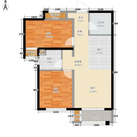 天洋 翠堤湾2室0厅1卫1厨88.00㎡户型图
