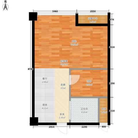嘉兴总部商务花园5号楼(WO居)1室0厅1卫0厨66.00㎡户型图