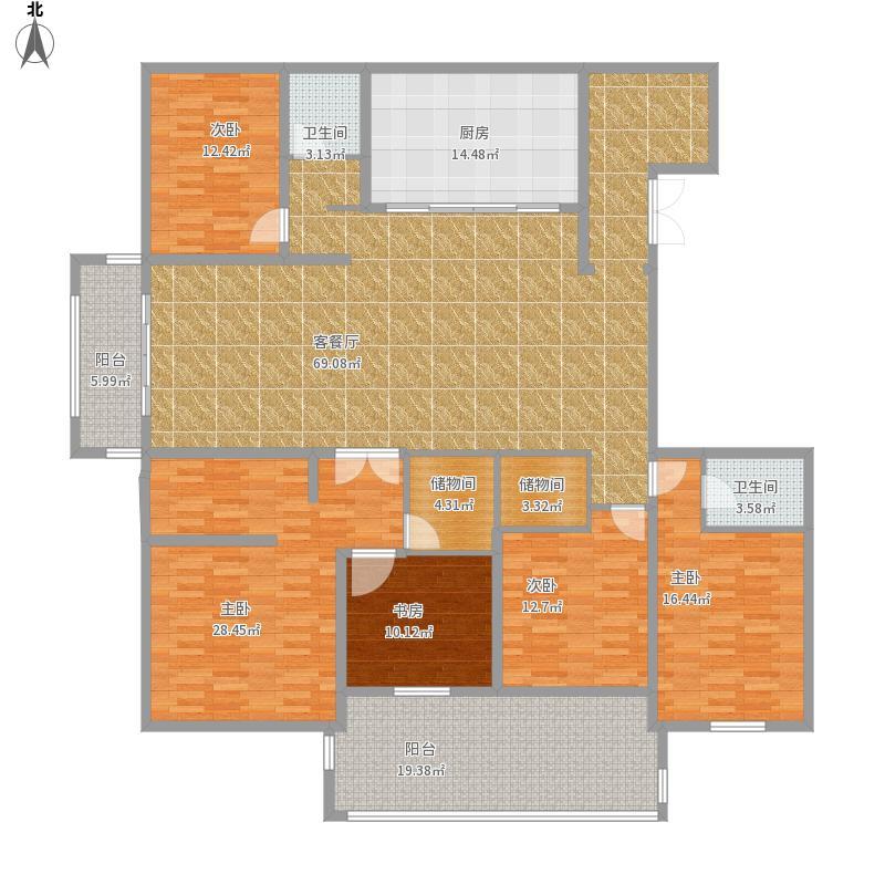 海安东港国际4-02四室三卫二厅一厨