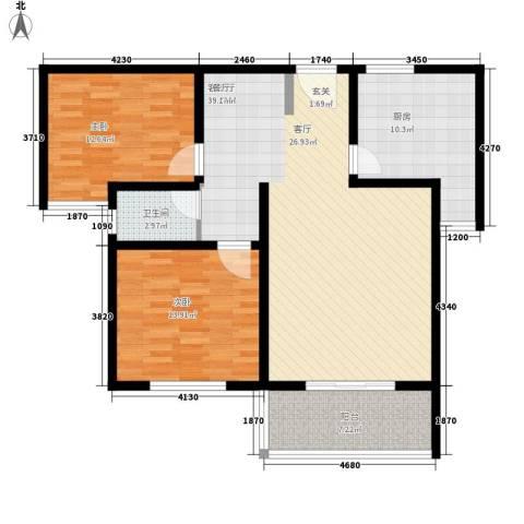 美意苑小区2室1厅1卫1厨121.00㎡户型图
